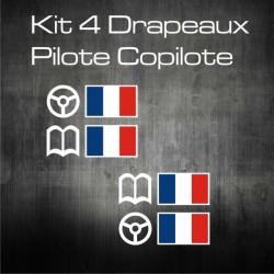 Kit 4 Drapeaux Pilote Copilote