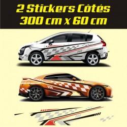 Kit déco racing pour véhicules toutes marques