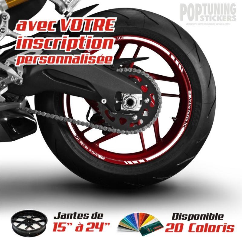 moto liserets simple 100 personnalisables avec votre inscription. Black Bedroom Furniture Sets. Home Design Ideas