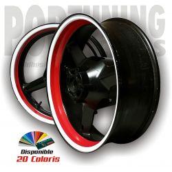 Liseret jante moto Racing 6 - 2 Coloris de jante