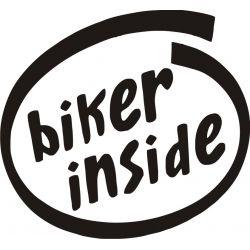 Sticker Motard à Bord (biker inside) - Modèle 2