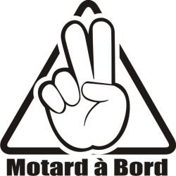 Sticker Motard  à Bord - Modèle 3