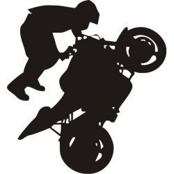 Sticker Moto Stunt - Modèle motard 5
