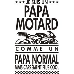 Sticker PAPA Motard Cool - 25 x 42 cm