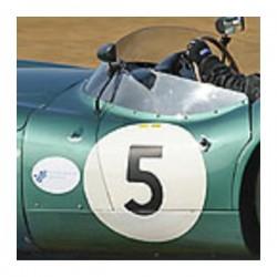 1 Fond Numéro de Course Rond pour Rallye - Collection