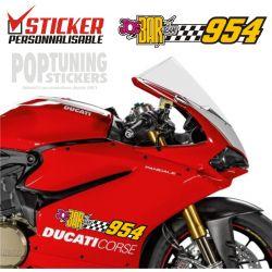 2 Stickers de cylindrée moto personnalisables