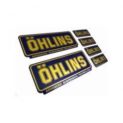 Sticker Ohlins  - 10 cm x 4,5 cm (x2) et 5 cm x 2 cm (x4)