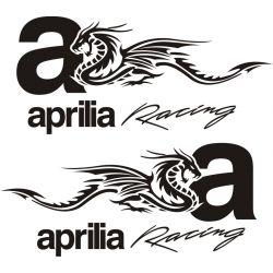 2 autocollants Aprilia Dragon - Sticker Autocollant