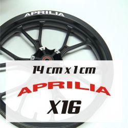 Aprilia - Stickers Jante moto Aprilia