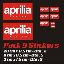 Aprilia Pack Stickers - Autocollants Moto Aprilia