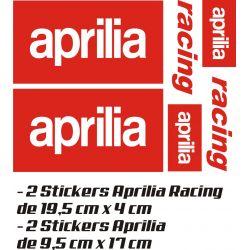 Aprilia Pack Stickers 3 - Autocollants Moto Aprilia