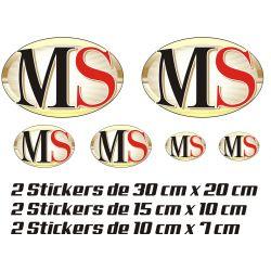 Aprilia Planche Stickers MS - Autocollants Moto Aprilia