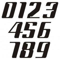 1 numéro de course modele 45 - Rallye