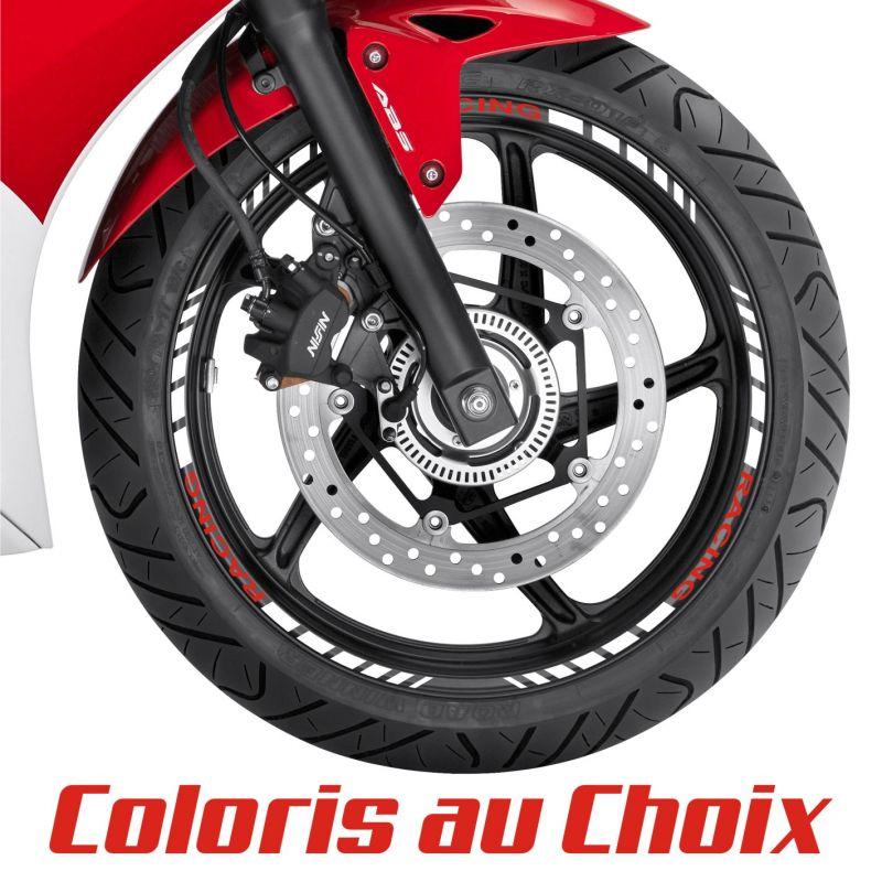 Stickers pour jante de moto RACING - 2 Coloris au choix
