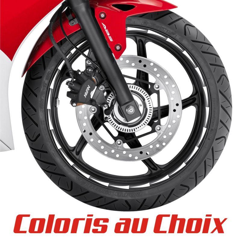 Autocollants pour jante de moto FLECHES - Coloris au choix