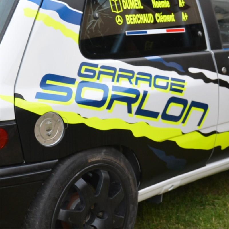autocollant de portes et ailes sponsors rallye