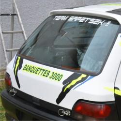 autocollant de hayon sponsors rallye