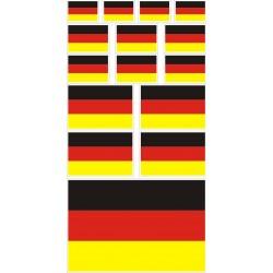 stickers drapeau allemagne