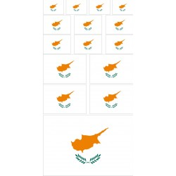 stickers drapeau chypre