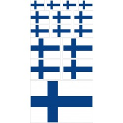 stickers drapeau Finlande