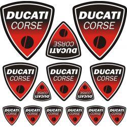 Ducati Corse Stickers - Planche Autocollants 48