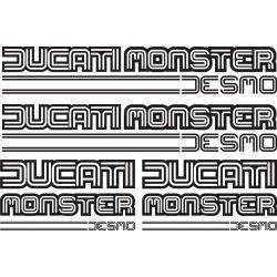 Ducati Monster Desmo Stickers - Planche Autocollants 55