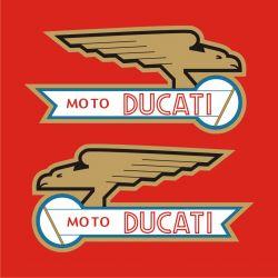 Moto Ducati 2 Stickers - Autocollants 56