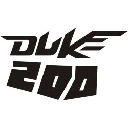 KTM Duke 200 Sticker - Autocollant KTM Racing 22