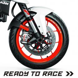 KTM Racing Stickers de jantes
