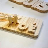 lettre en bois personnalisée