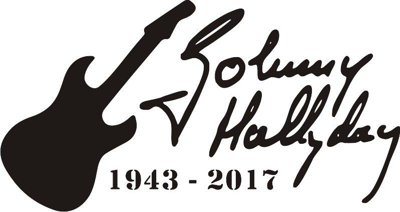 autocollant hommage à Johnny Halliday
