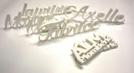 lettres et logos découpés en PVC